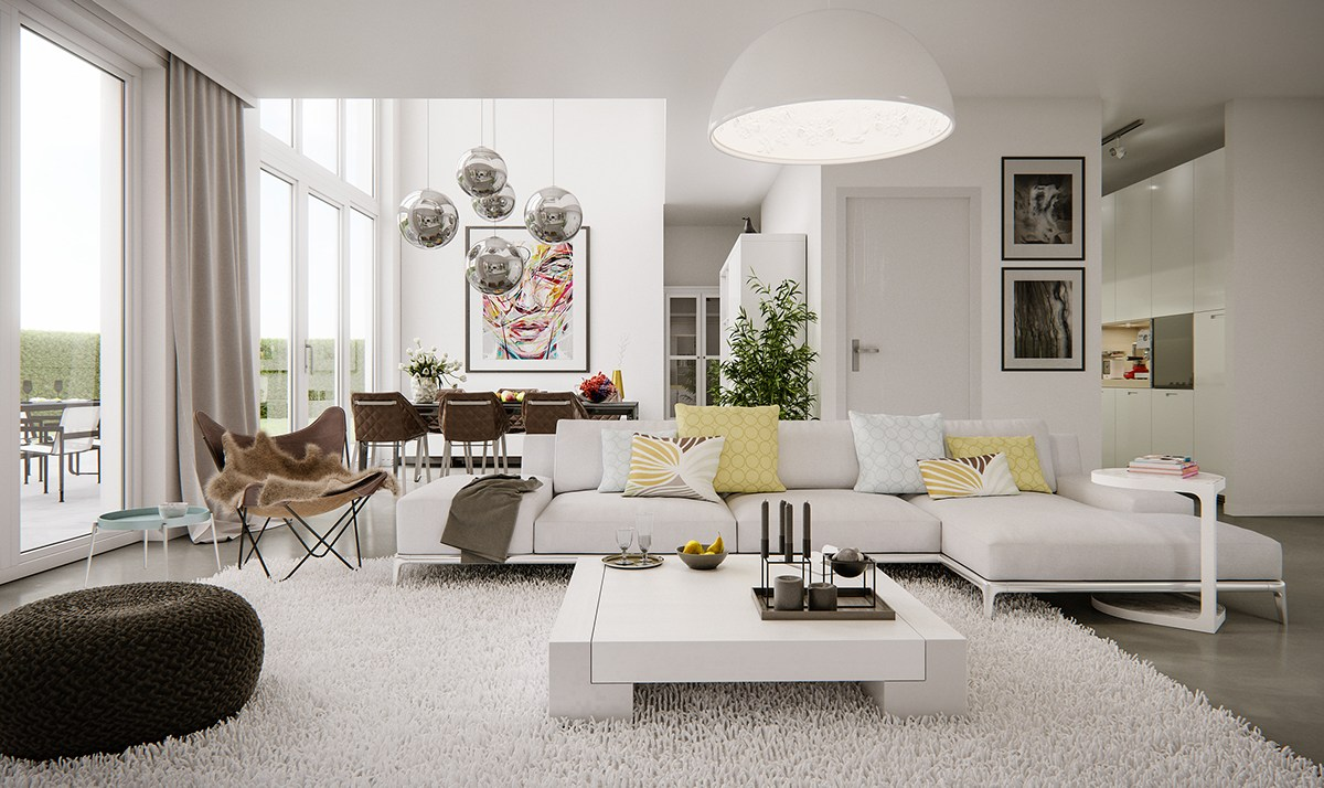 5 living rooms that demonstrate stylish modern design trends for Modern living room ideas