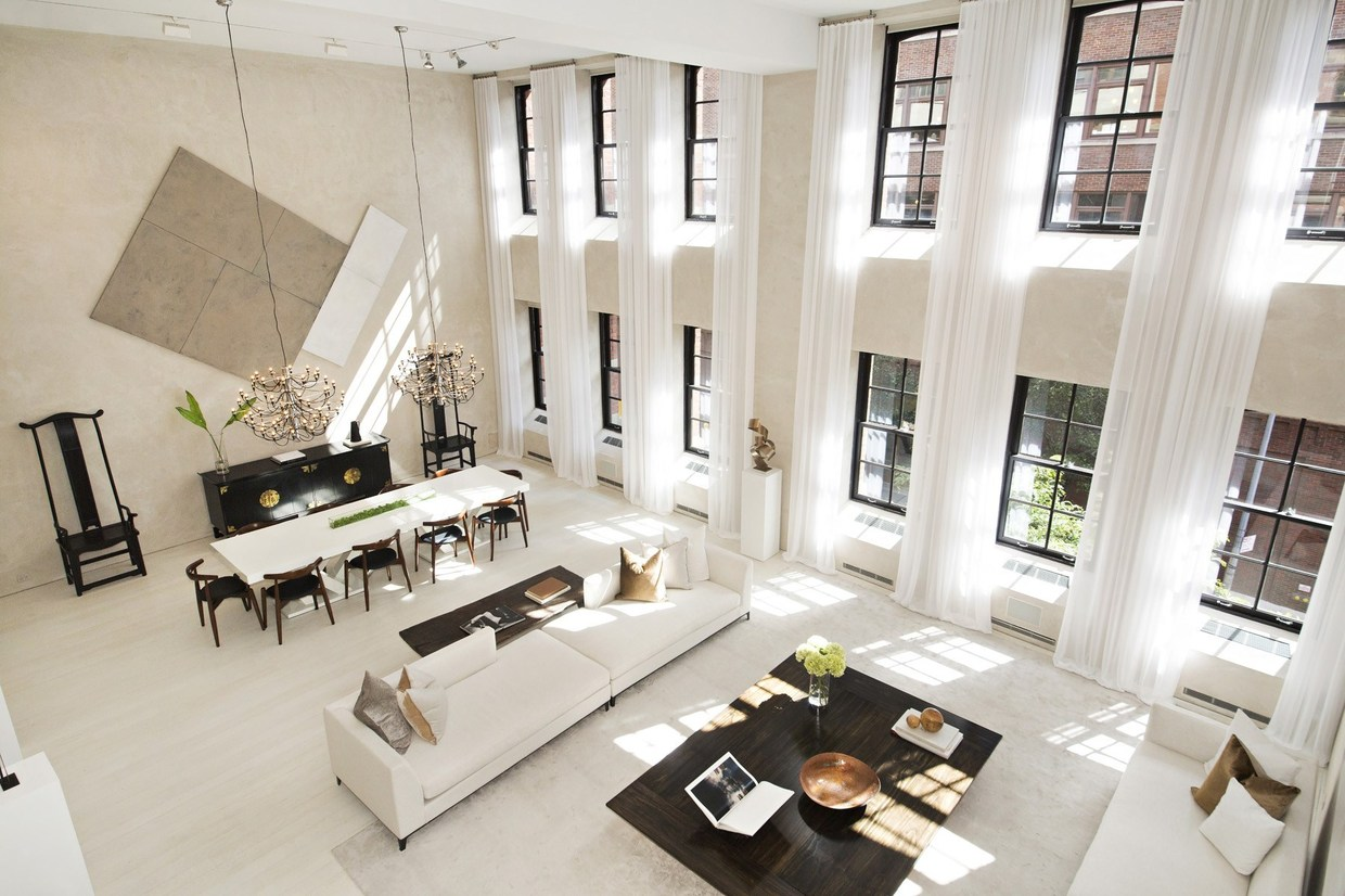 Two sophisticated luxury apartments in ny includes floor Luxury house plans with photos of interior