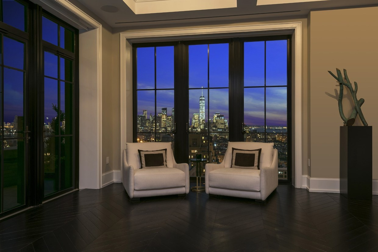 luxury apartment with skyline view