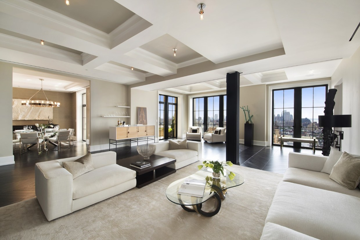 This gorgeous 4871 square foot apartment occupies a duplex space atop walker tower the modern