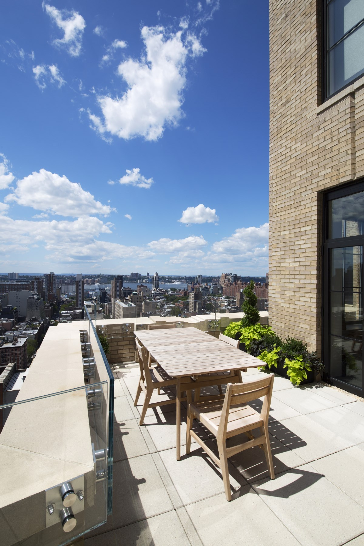 Two sophisticated luxury apartments in ny includes floor for Luxury balcony design