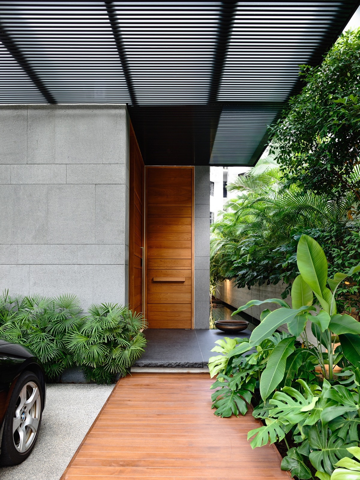 50 modern front door designs for Garden entrance designs