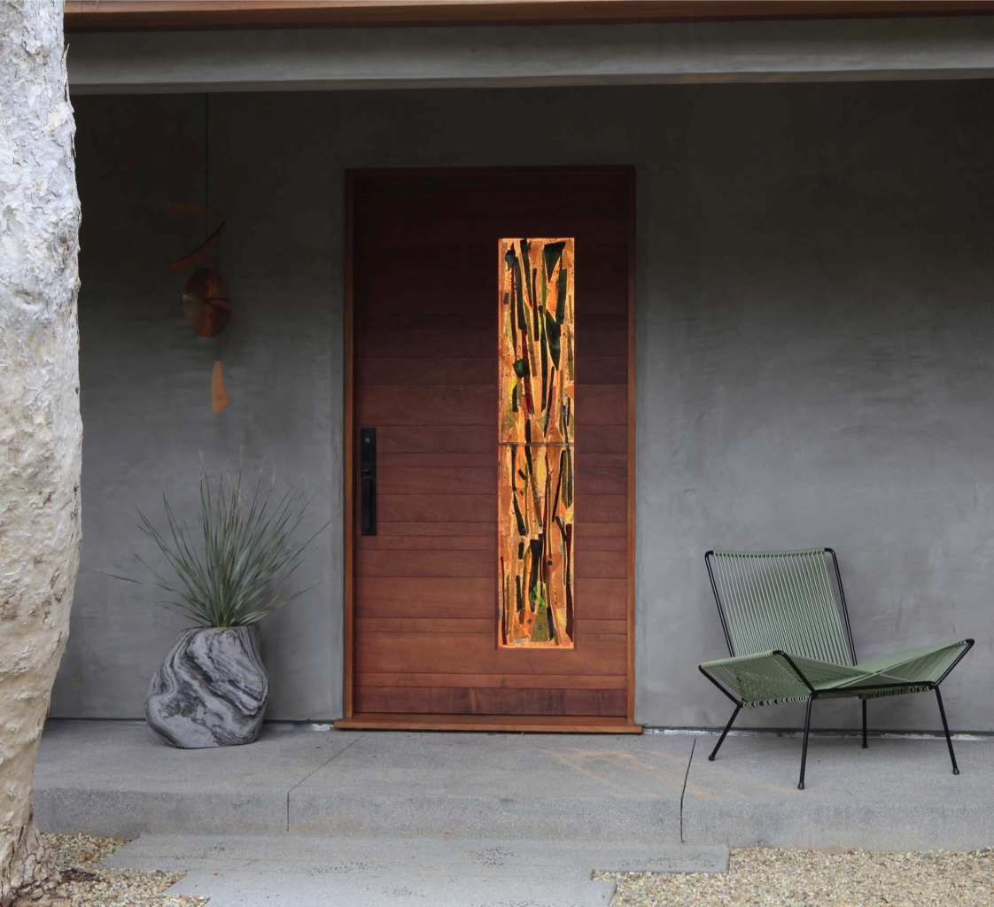 50 modern front door designs for Front window ideas