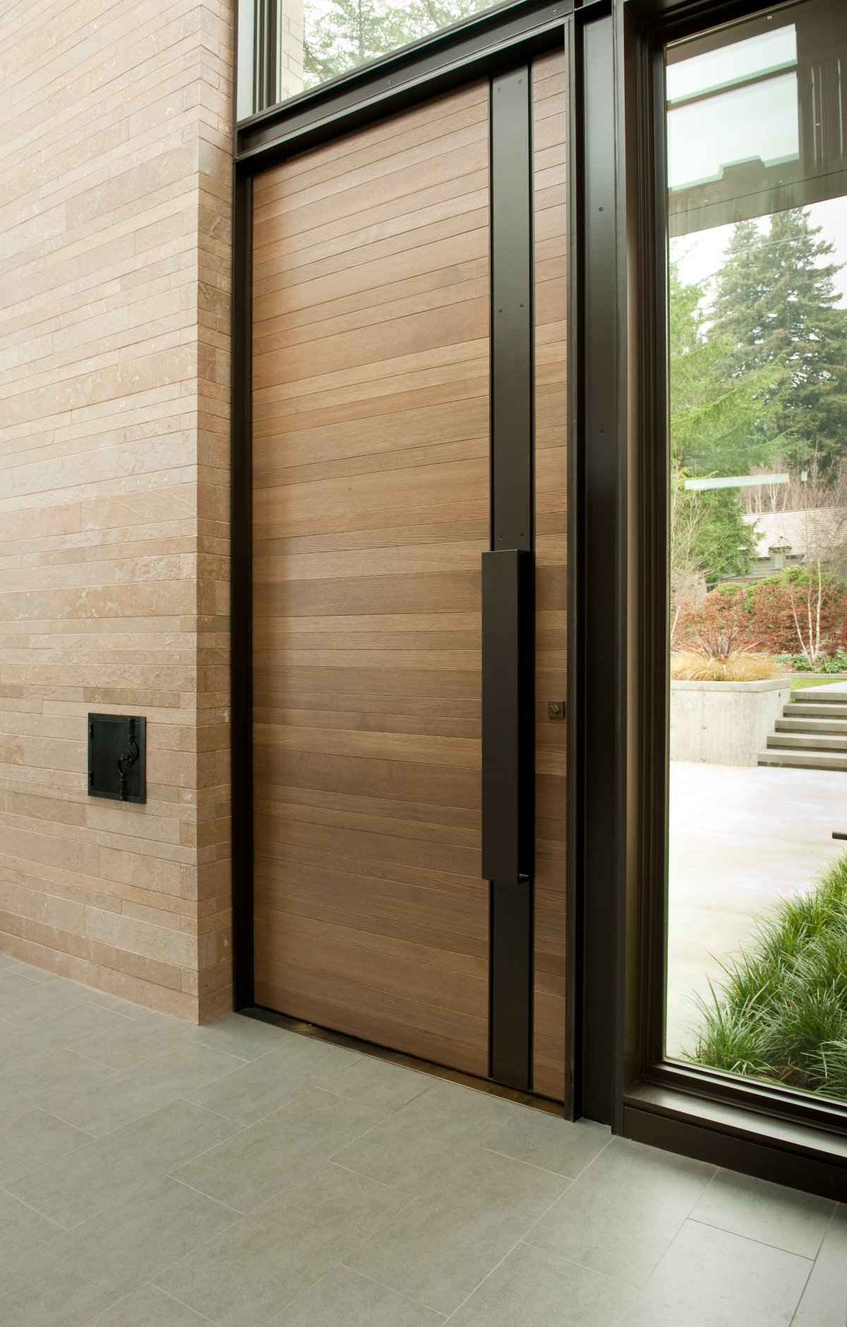 50 modern front door designs for Wood entry doors