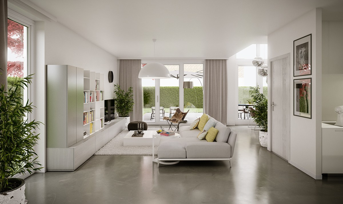 5 living rooms that demonstrate stylish modern design trends for One bedroom living room ideas