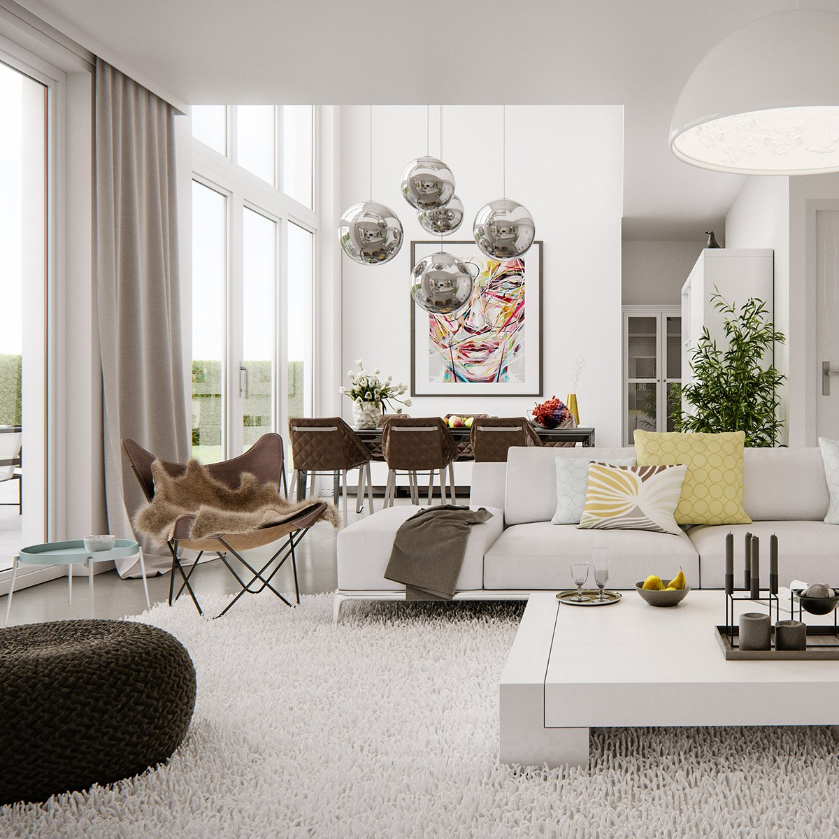 5 living rooms that demonstrate stylish modern design trends for Decoration maison et jardin