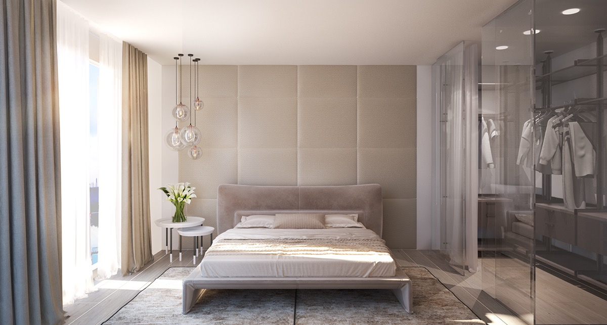 20 beautiful examples of bedrooms with attached wardrobes - Designer Bedroom Wardrobes