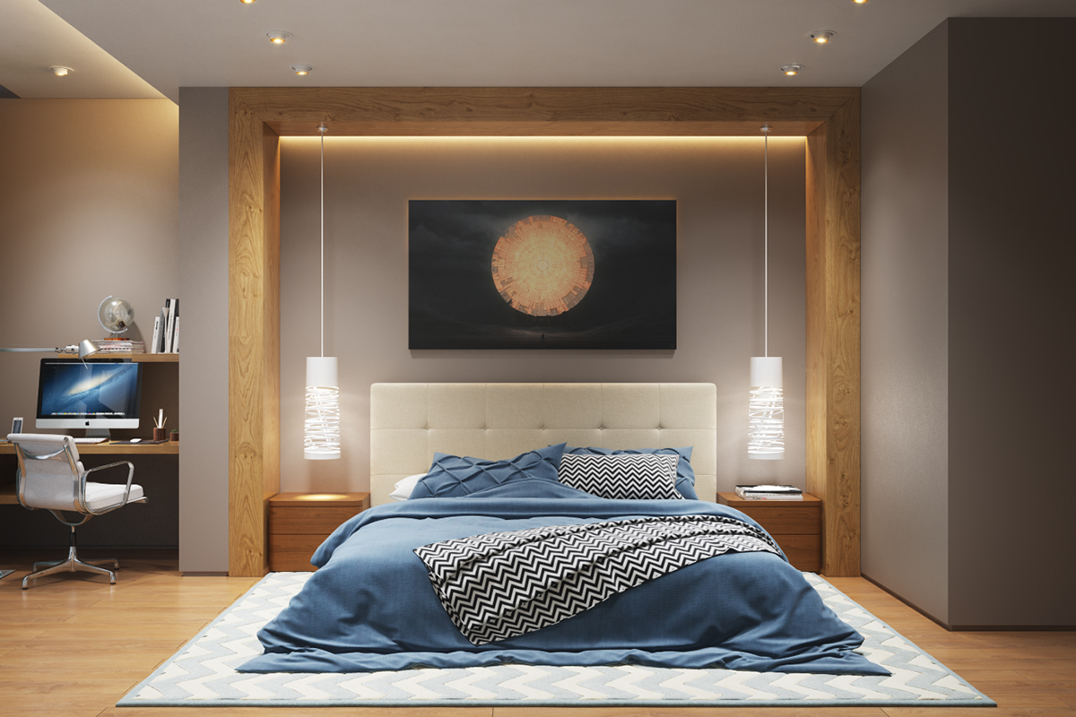 Charming Modern Bedroom Lighting Ideas Part - 2: Interior Design Ideas