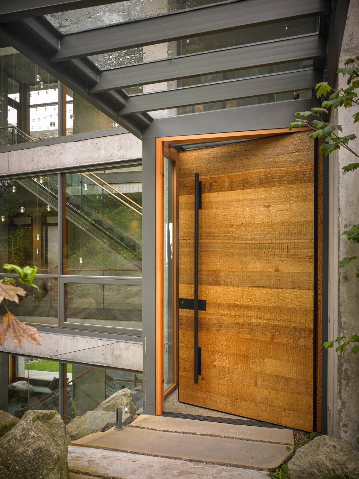 50 modern front door designs for Wooden house exterior design