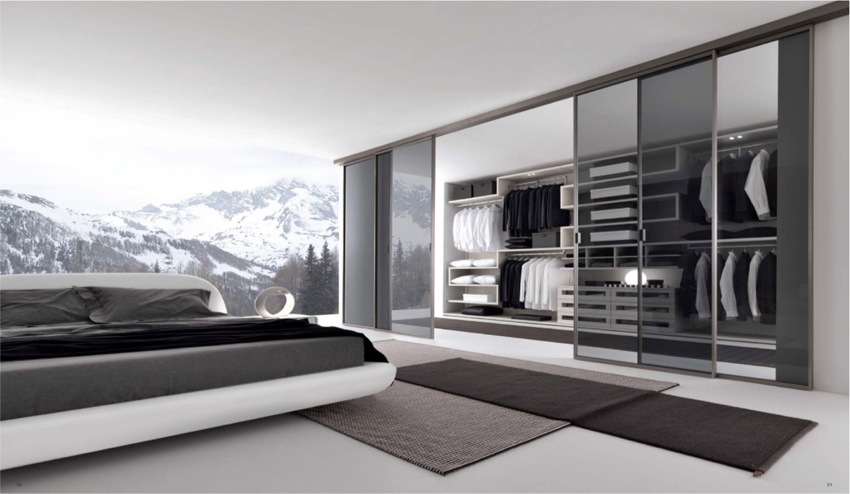 20 beautiful examples of bedrooms with attached wardrobes for Modern bedrooms 2016