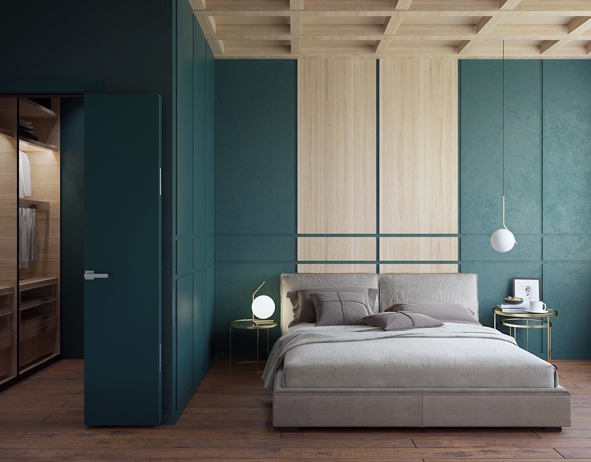 Walk In Closet With Folding Door - 20 beautiful examples of bedrooms with attached wardrobes