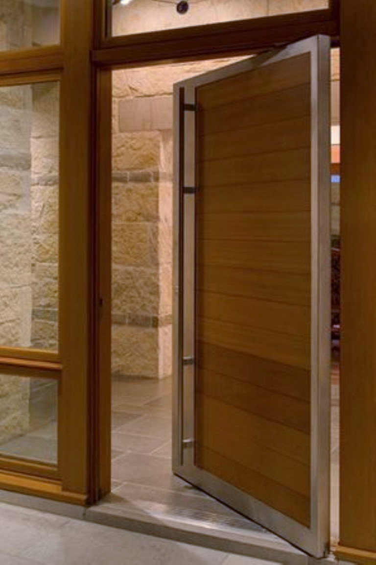 50 modern front door designs for Wood front entry doors