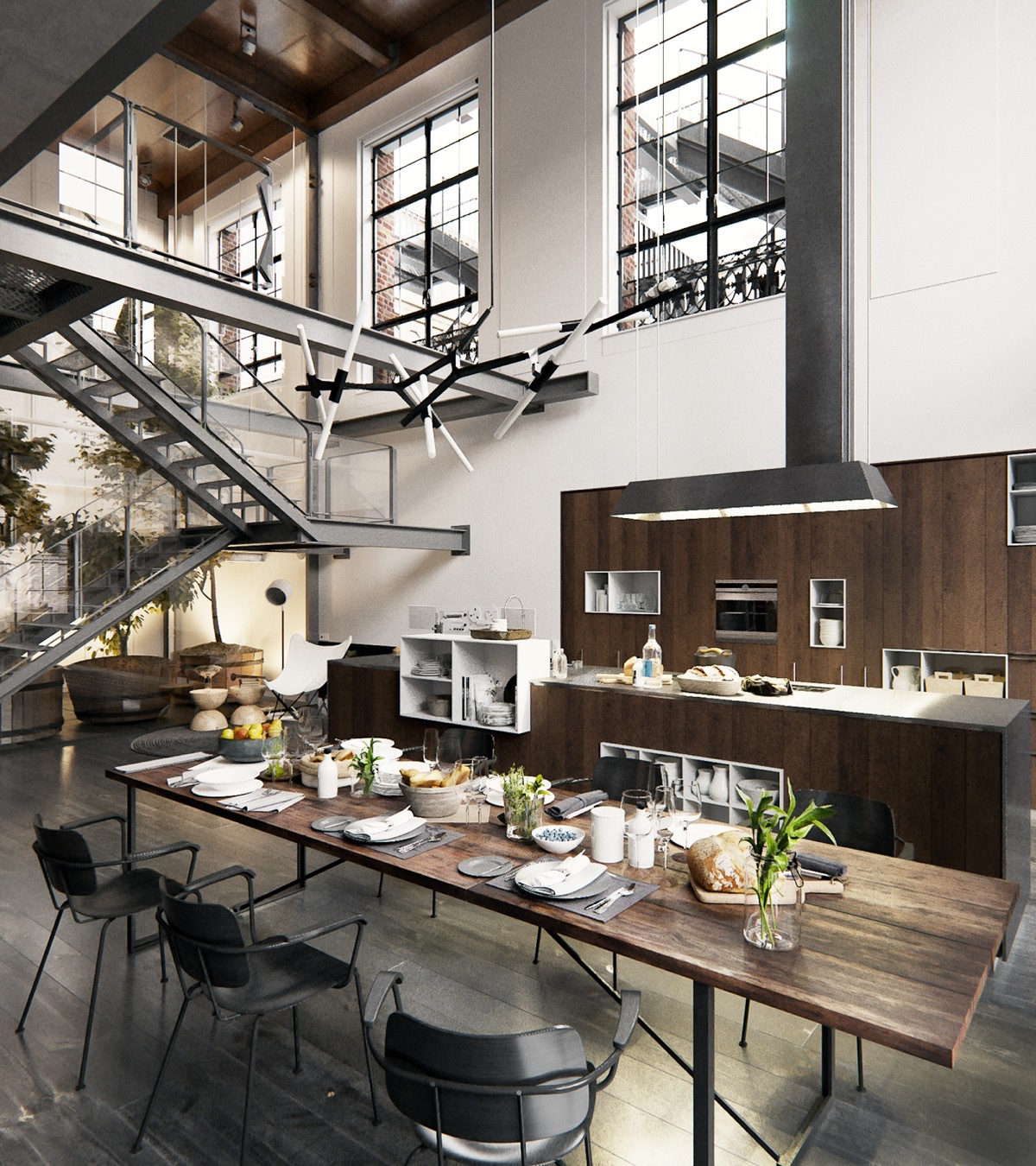 2 chic and cozy cosmopolitan lofts for New york style kitchen design