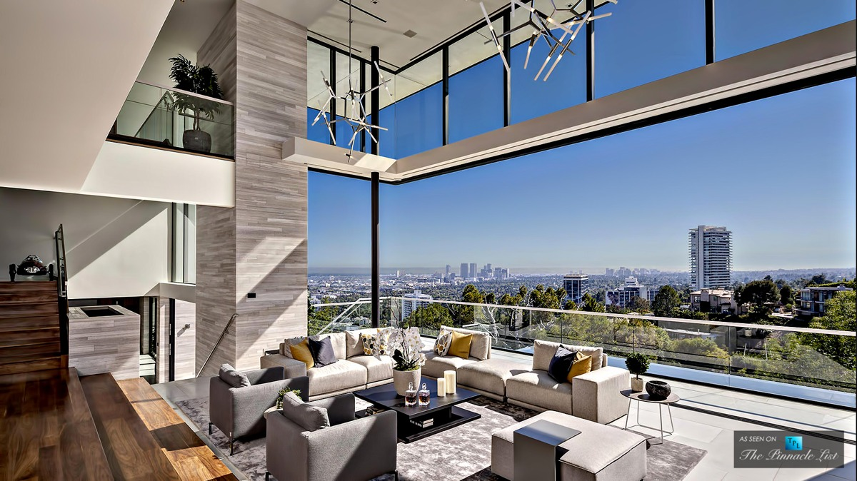A modern california house with spectacular views for California million dollar homes