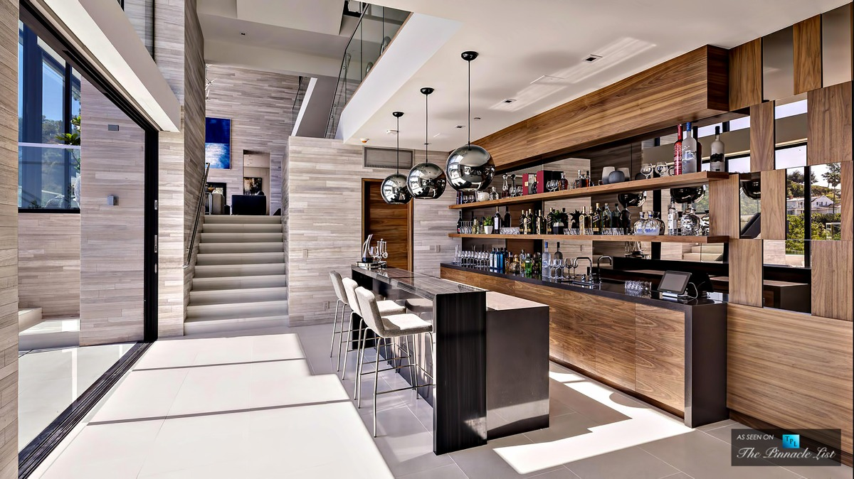 Incredible Home Bar Dream Bar - A modern california house with spectacular views