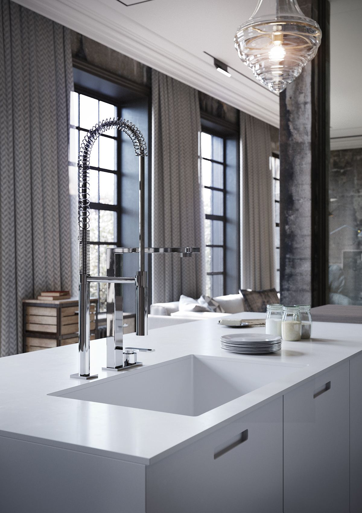 Incredible Luxury Kitchen Fixtures - 2 chic and cozy cosmopolitan lofts