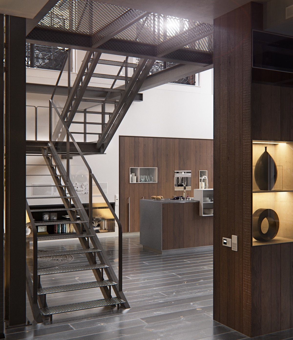 Incredible Staircase - 2 chic and cozy cosmopolitan lofts