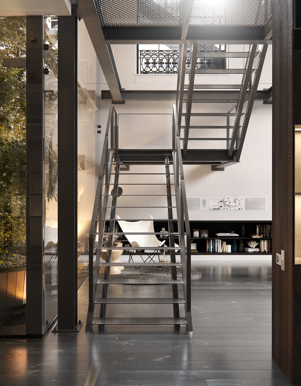 Industrail Staircase Loft - 2 chic and cozy cosmopolitan lofts