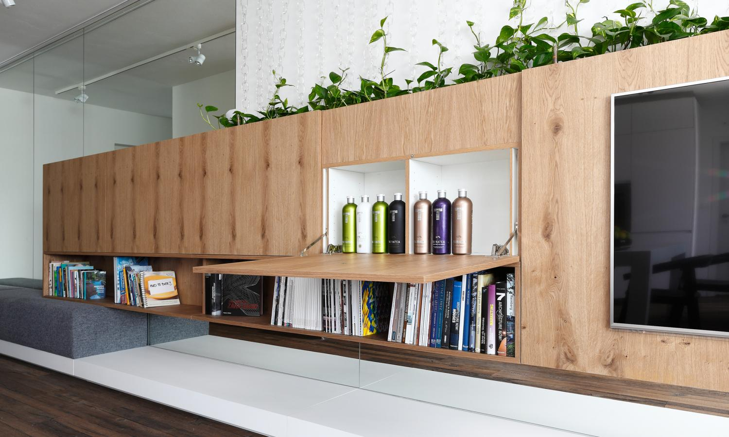 Multifunctional Cabinets Living Room Design - Indoor plant inspiration to transform your space