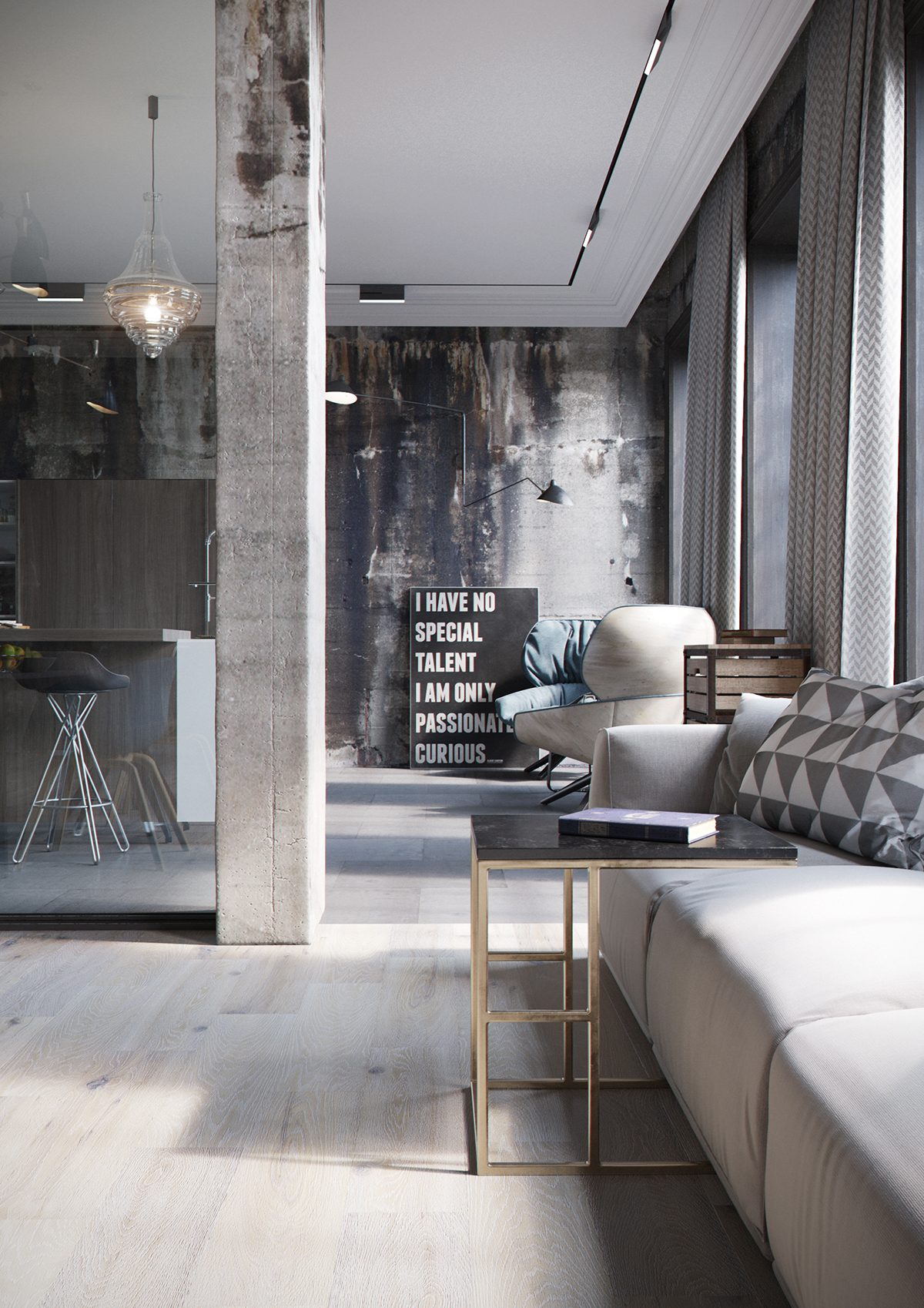 2 chic and cozy cosmopolitan lofts for Small loft decor