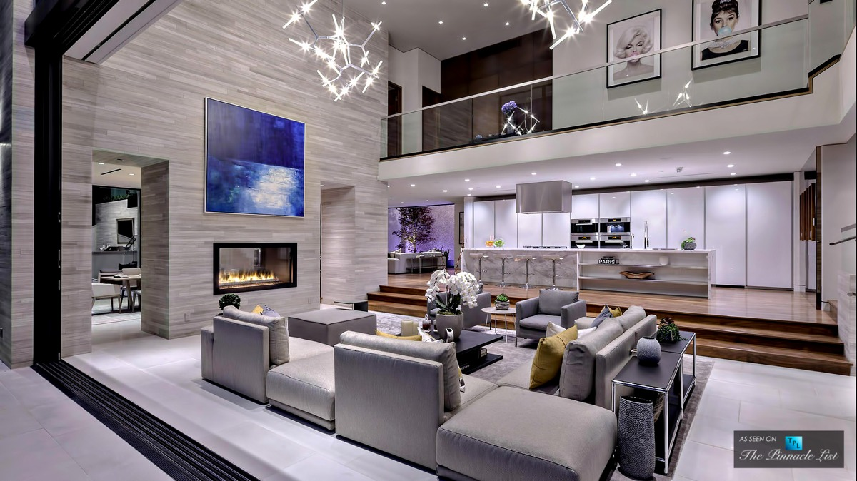 Stunning LA Home Sunken Living Room - A modern california house with spectacular views