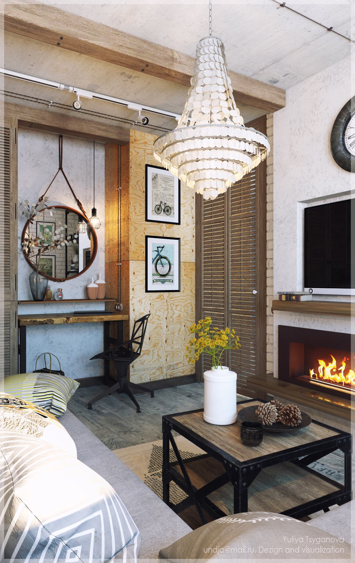 3 chic modern eclectic spaces for Eclectic living room images