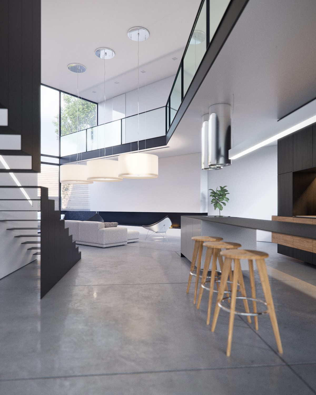 Angled Modern Interior Architecture - 3 modern villas that embrace indoor outdoor living