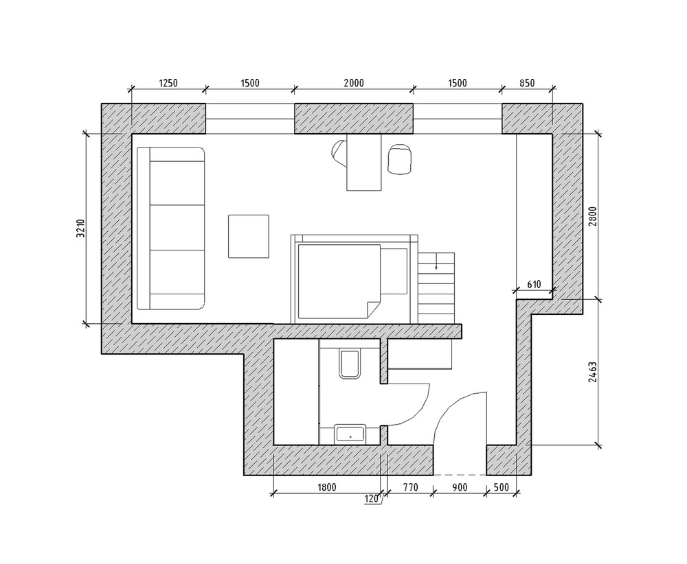 Apartment Floor Plan With Loft Bed - 4 small apartments showcase the flexibility of compact design