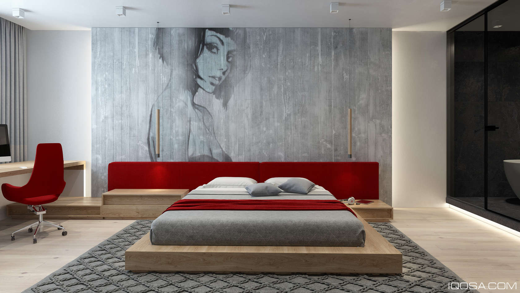 Bedroom Mural Inspiration - An approachable take on luxury apartment design