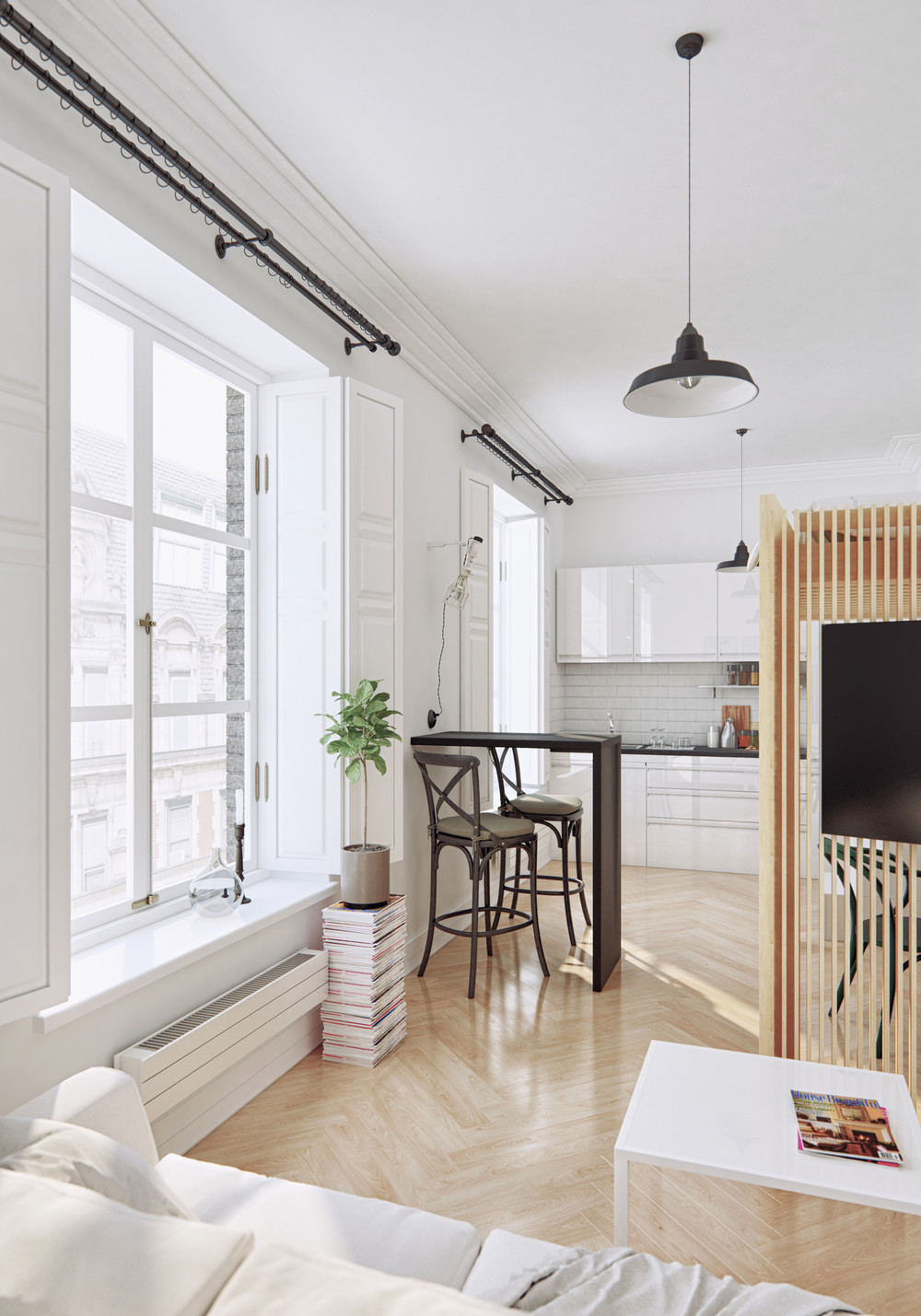 Classic Furniture In Modern Apartment - 4 small apartments showcase the flexibility of compact design