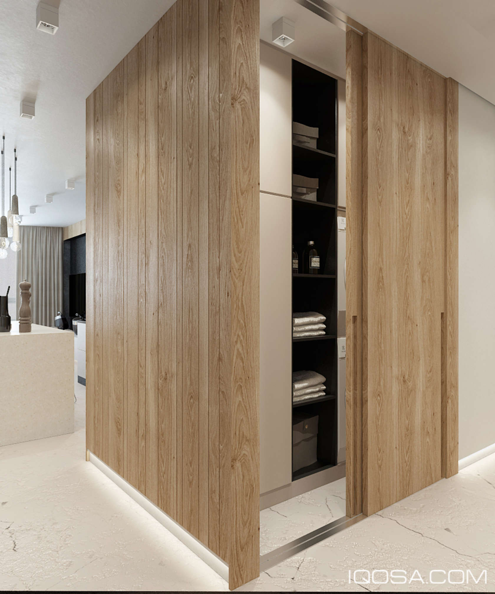 An approachable take on luxury apartment design for Take door designs