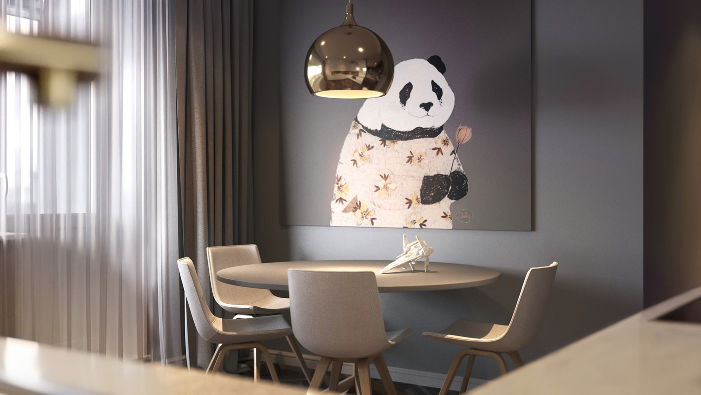 Homes with inspiring wall treatments and designer lighting for Cute dining rooms