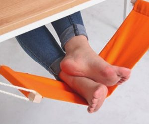 feet hammock under desk