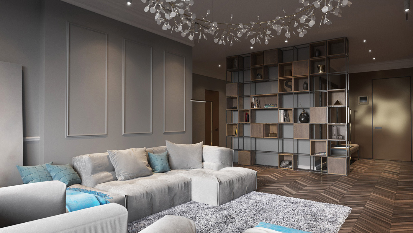 Floral Chandelier - Homes with inspiring wall treatments and designer lighting
