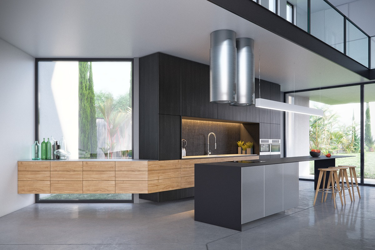 Glass Walls In The Kitchen - 3 modern villas that embrace indoor outdoor living