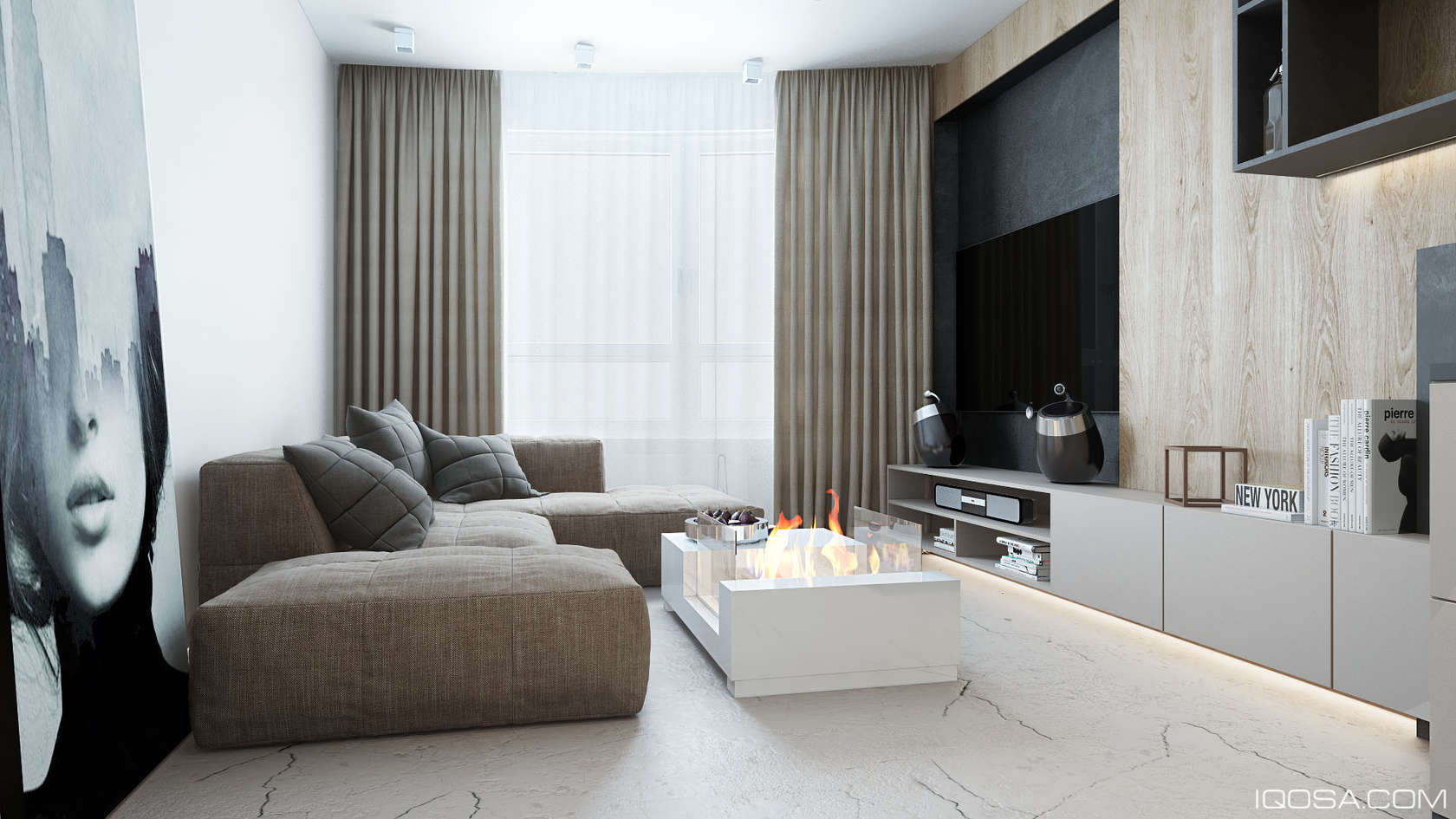 An approachable take on luxury apartment design for An interior decorator