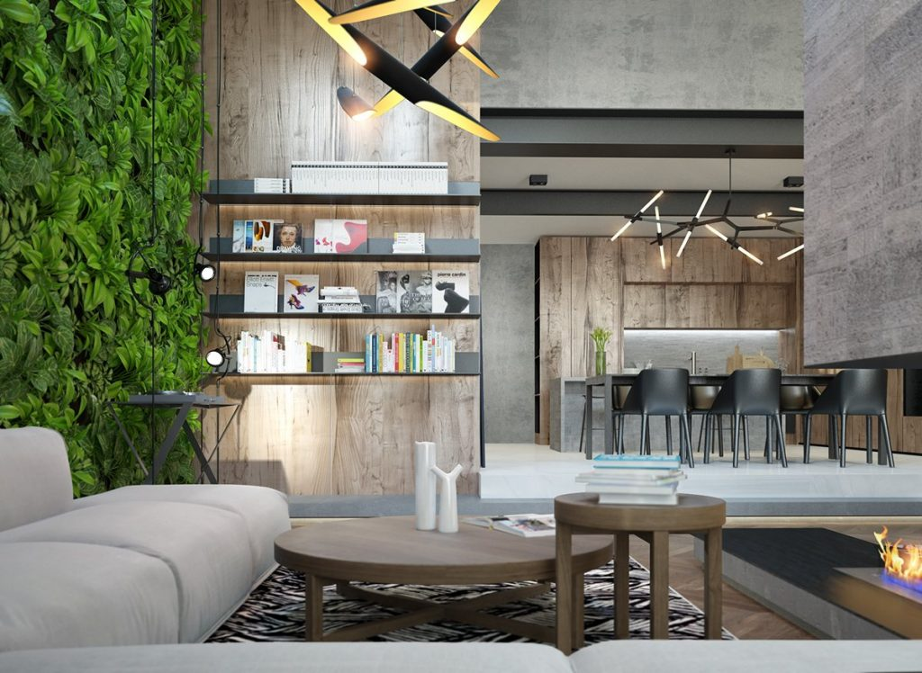Lighting interior design ideas for Garden studio interiors