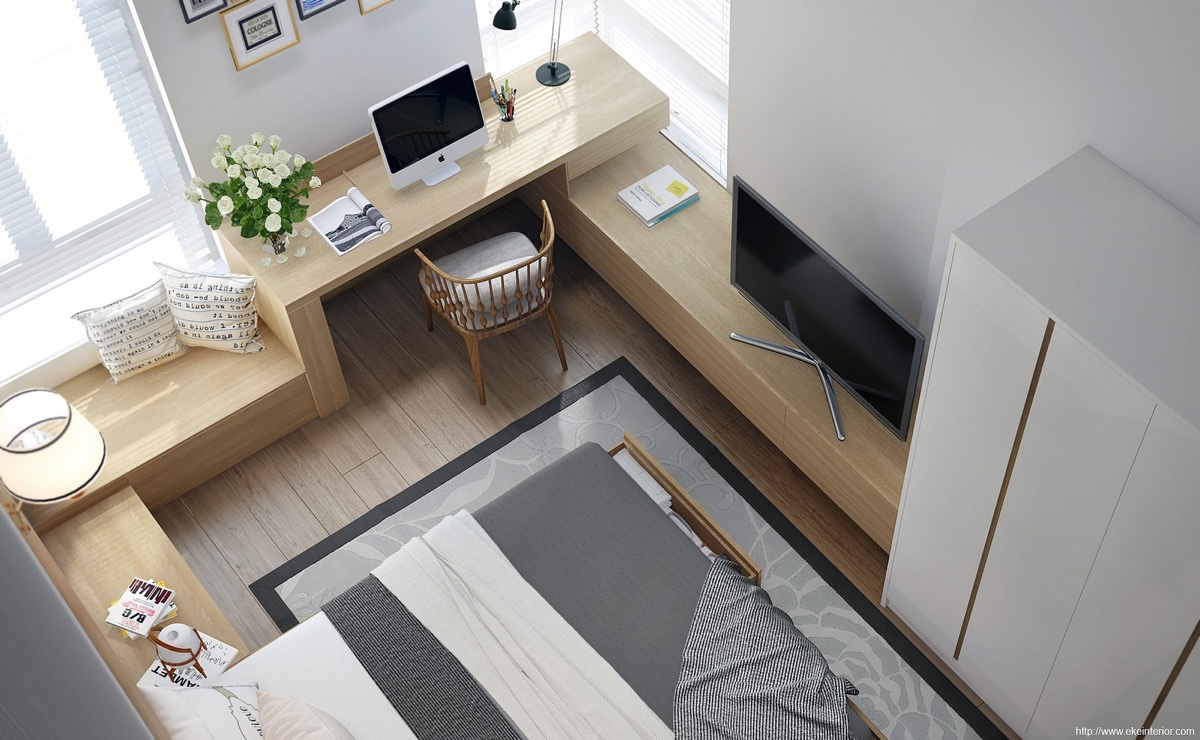 Light Bright Small Space - Sophisticated small bedroom designs