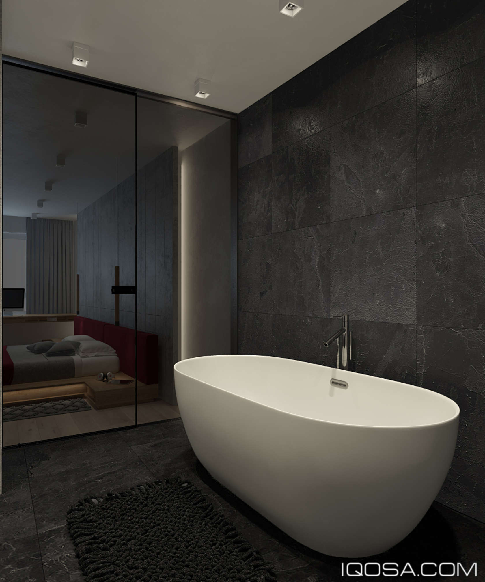 An Approachable Take On Luxury Apartment Design - Luxury apartments bathrooms
