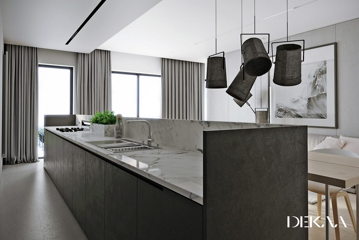 Kitchen Design Grey   Don U0027t Be Afraid Of The Dark 4 Lovely Homes With  Strong