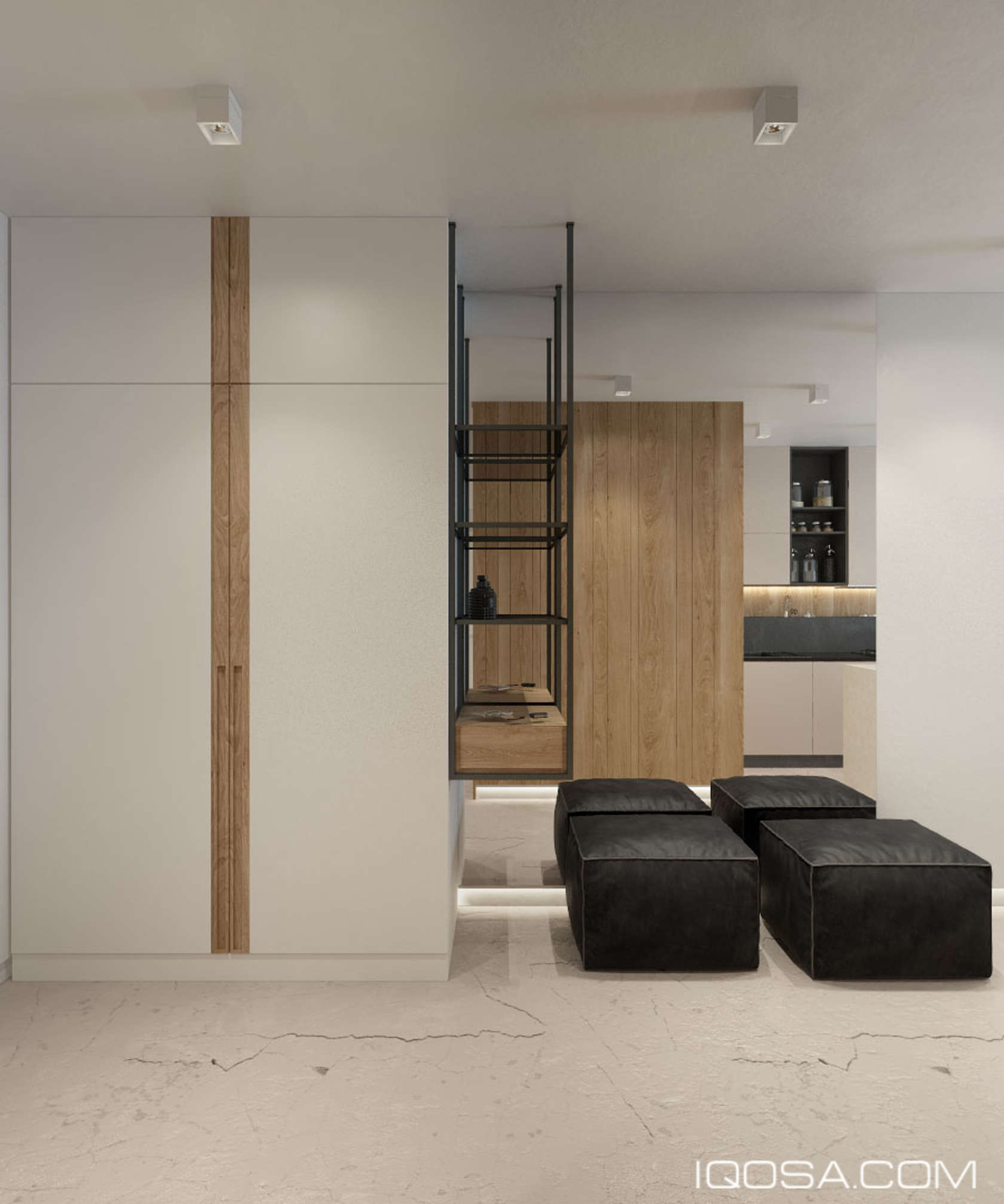 Modern Apartment Entryway - An approachable take on luxury apartment design
