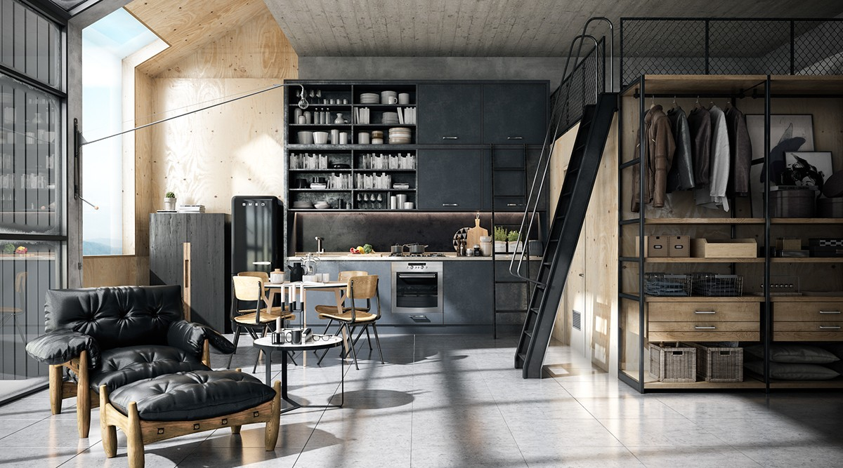 Modern Loft Stil ~ Chic sophisticated lofts