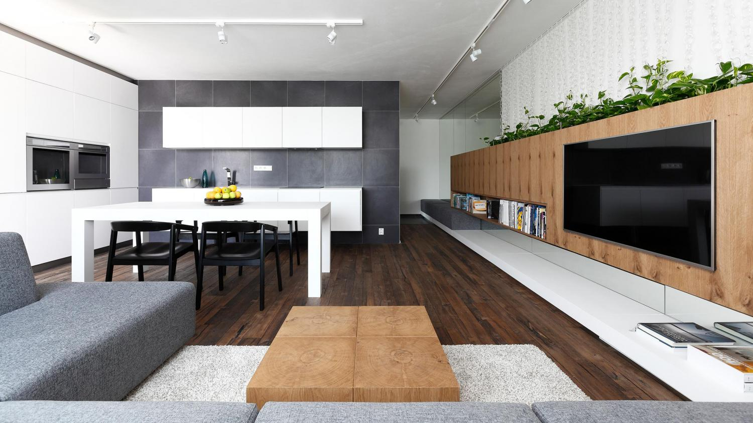 Modern Open Kiching And Living - Indoor plant inspiration to transform your space