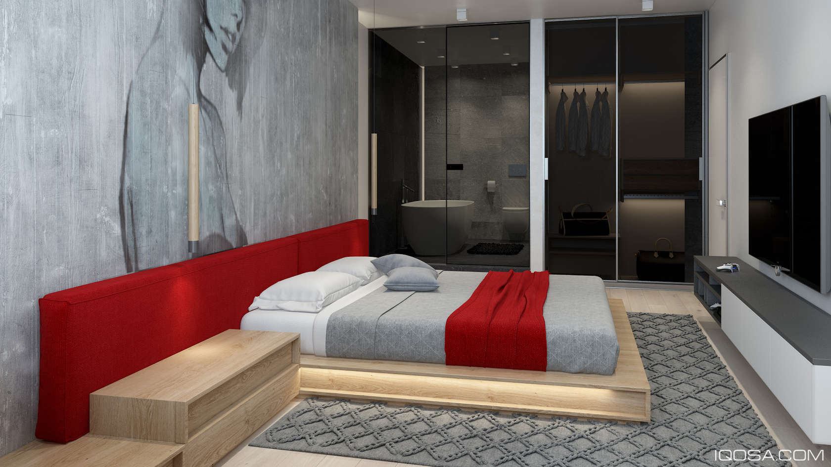 Modern Platform Bed Idea - An approachable take on luxury apartment design