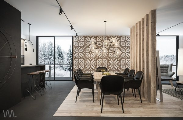 Changes In Floor Material Can Help Create An Abstract Boundary Between Functional Areas As Well Here Youll See Wooden Flooring The Casual Social