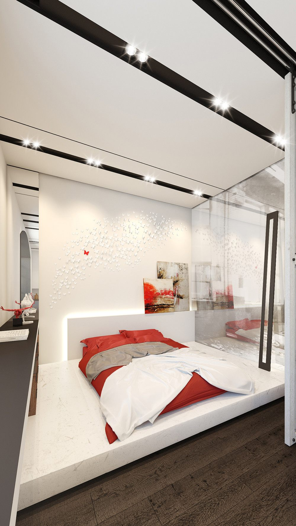 4 small apartments showcase the flexibility of compact design for Bedroom showcase designs
