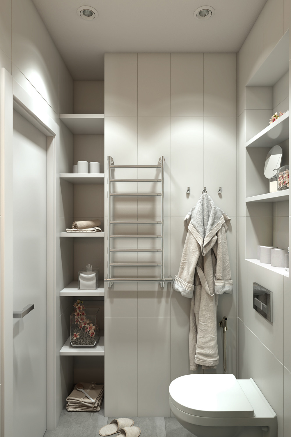 Small Bathroom Storage Ideas - 4 small apartments showcase the flexibility of compact design