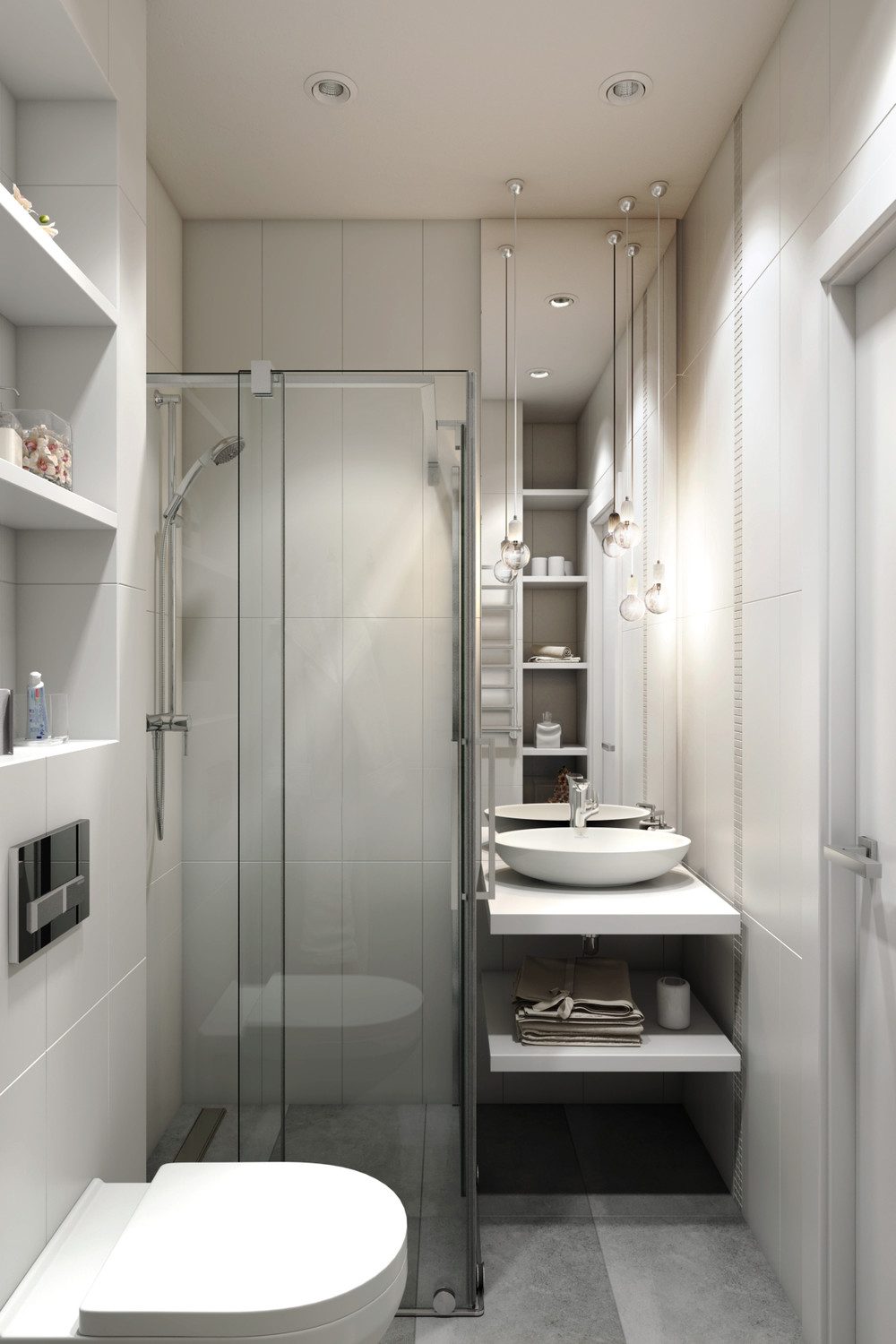 4 small apartments showcase the flexibility of compact design for Compact bathroom designs