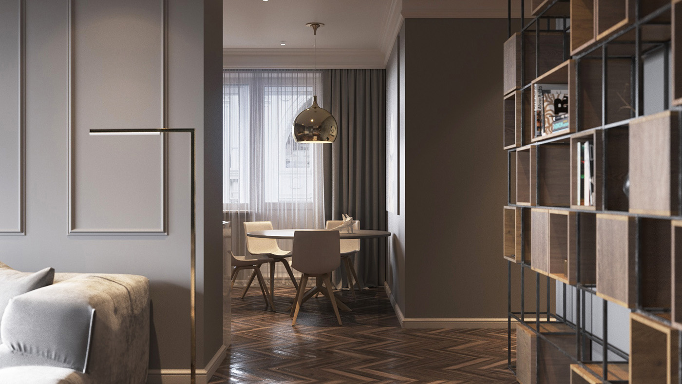 Understated Luxury Dining Room - Homes with inspiring wall treatments and designer lighting