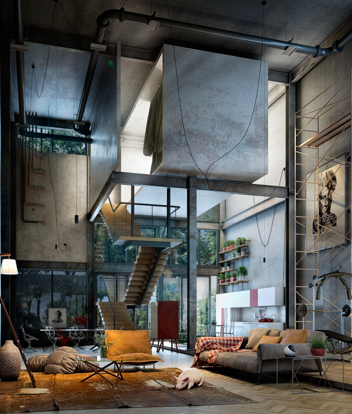 40 incredible lofts that push boundaries for Loft apartment interior design